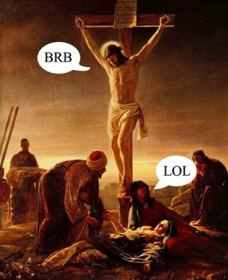 funny jesus. Christians were funny. Gold.